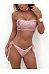 Collarless  Glitter  Plain Bikini