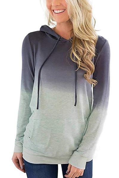 Hooded  Gradient  Basic Hoodies
