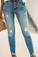 Fitted Denim Basic Jeans