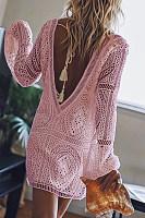 Elegant V Neck Long Sleeve Lace Dress