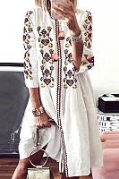 Round Neck  Bohemian Casual Dresses
