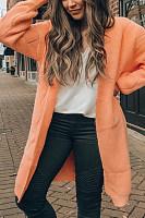 Women Casual Plain Color Cardigans
