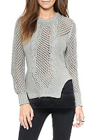 Round Neck  Asymmetric Hem  Hollow Out Sweaters