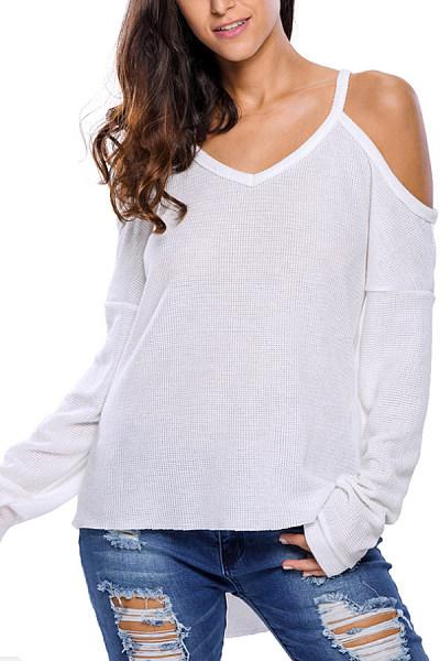 Spaghetti  Strap  Plain  Casual Sweaters