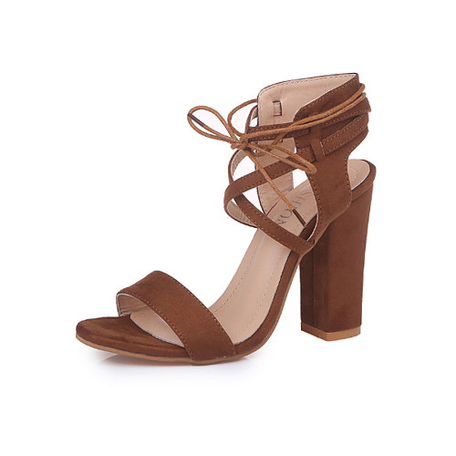 High Heeled Chunky Plain Sandals