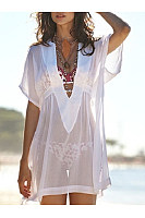 Deep V-Neck  Plain Tunic