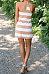 Spaghetti Strap  Striped  Sleeveless Casual Dresses