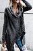 Speckled Cowl Neck  Fringe  Plain Cardigans