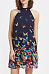 A Line Halter  Butterfly Prints Casual Dresses
