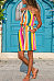 Halter Sleeveless Colorful Stripes Casual Dress
