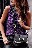 Leopard Printed Sleeveless Fashion Camis