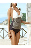 Halter  Color Block Gradient One Piece