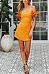 Off Shoulder  Backless  Plain  Extra Short Sleeve Bodycon Dresses