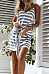 Spaghetti Strap  Backless  Belt  Striped  Sleeveless Casual Dresses