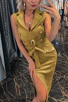 Belt  Plain Bodycon Dresses