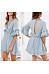 V Neck  Plain  Bell Sleeve  Half Sleeve Casual Dresses