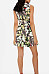 Deep V Neck  Printed  Sleeveless Bodycon Dresses