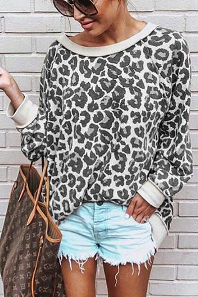 Fashion Leopard Print Long Sleeve T-Shirt