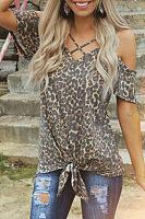 Spaghetti Strap  Leopard T-Shirts
