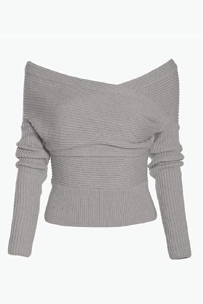 Off Shoulder  Backless  Plain Sweaters