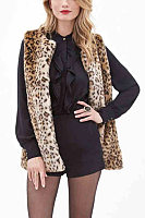 Snap Front  Leopard Printed Outerwear