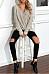 Surplice  Patchwork  Plain  Batwing Sleeve Sweaters