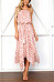 Strapless  Asymmetric Hem  Printed  Sleeveless Maxi Dresses