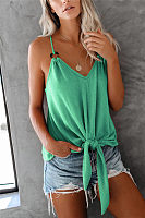 Casual Pure Color Spaghetti Strap Camis