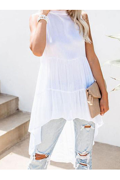 Bohemian Hem Skirt Fashion Shirt   Top