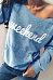 One Shoulder  Kangaroo Pocket  Letters T-Shirts