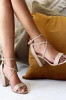 Plain  Chunky  High Heeled  Peep Toe  Date Travel Dress Sandals