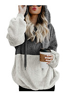 Hooded  Cotton Patchwork  Casual Hoodies