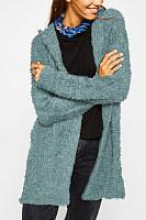 Casual  Autumn Hooded  Plain Outerwear