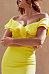 Off Shoulder  Flounce Slit  Plain  Short Sleeve Bodycon Dresses