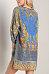 V Neck  Drawstring  Printed  Long Sleeve Casual Dresses