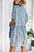 V Neck  Single Breasted  Print  Short Sleeve Casual Dresses