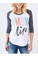Letters Printed Contrast Raglan Sleeve T-Shirt
