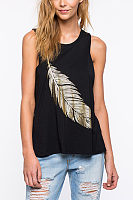 Round Neck Leaf Printed Vests