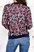Band Collar  Contrast Trim  Floral Printed Vintage Jackets