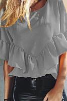 Round Neck Chiffon Fullfed Shirts