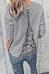 Round Neck  Backless Zipper  Plain T-Shirts