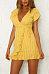 Deep V Neck  Belt  Plain  Short Sleeve Bodycon Dresses
