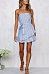 Strapless  Belt  Striped  Sleeveless Casual Dresses