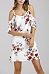 Spaghetti Strap  Flounce  Printed  Short Sleeve Casual Dresses