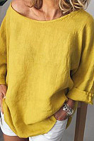 Casual Solid Color Loose Top