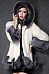 Hooded Color Block Faux Fur Coat