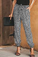 Casual Leopard Print High Waist Loose Harem Pants