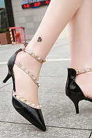 Decorative Hardware  Color Block Heels