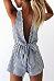 Deep V - Back Striped Playsuit