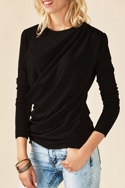 Round Neck  Plain T-Shirts